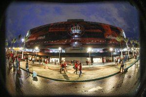Atlético tem a Arena, um dos estádios mais modernos do Brasil. Mas não poderá jogar com o Santos em casa.