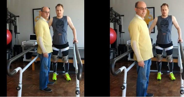 Viralizou: Vídeo mostra ator Fagner Zadra em pé após estar paraplégico por 3 anos