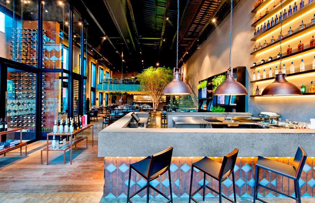 Decoração do restaurante Bobardí