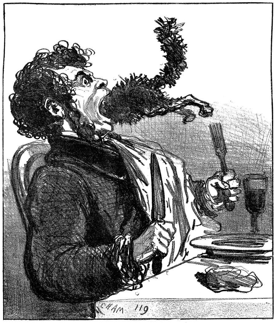 The Danger of Eating Mice - Cham - Old Book Illustrations (OBI)