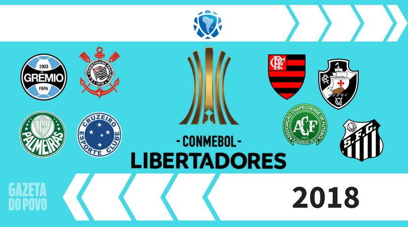 Tabela Copa Libertadores 2018.