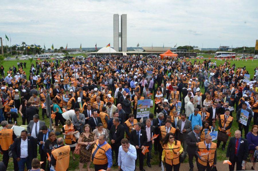Marcha dos prefeitos em Brasília, na terça (21) e quarta-feira (22). Foto: Divulgação/CNM