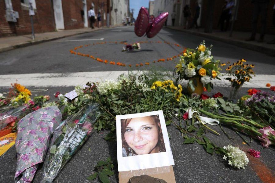 Vítima de crime em Charlottesville. Foto: Chip Somodevilla/AFP.