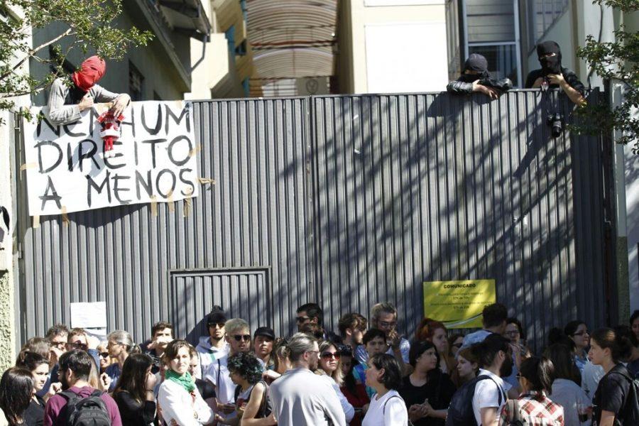 Ocupação da UTFPR: sob investigação. Foto: Jonathan Campos/Gazeta do Povo.