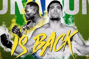 Poster do UFC São Paulo, com Lyoto Machida e Derek Brunson em destaque