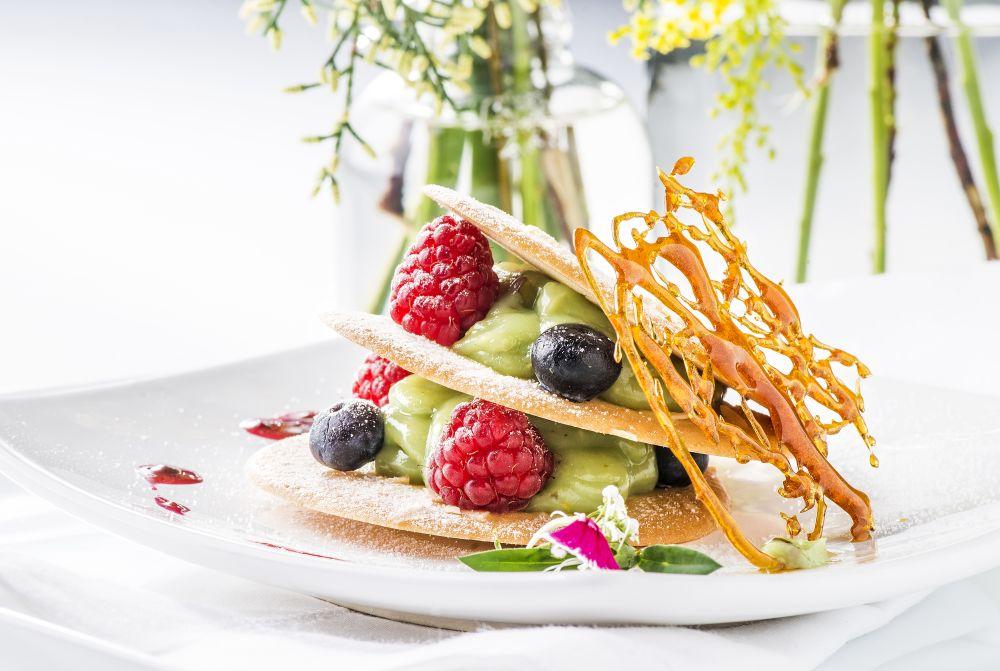 Sobremesa vegana que era servida pelo Mahatma Gourmet no jantar. Foto: Letícia Akemi/Gazeta do Povo