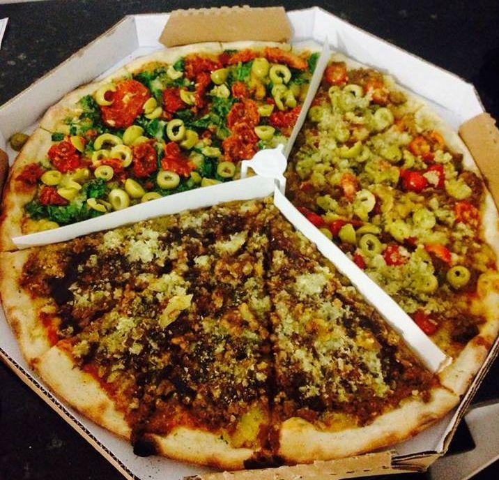 Pizza de três sabores da Bohn Parzianello. Foto: Divulgação