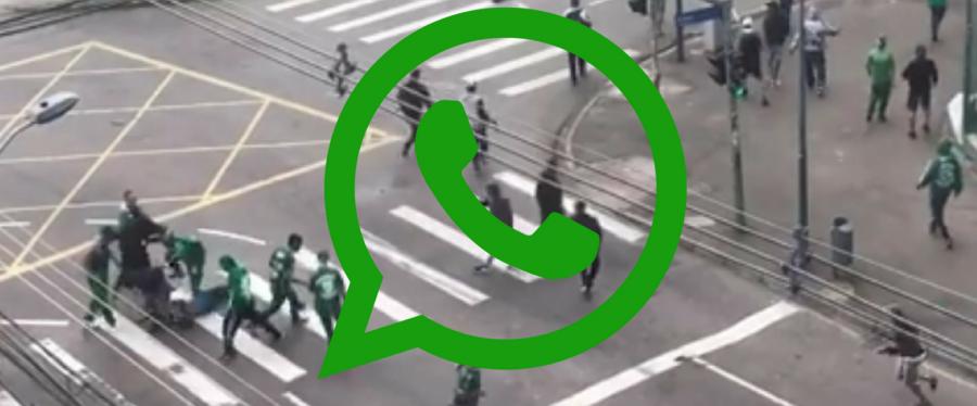 Em cinco áudios de WhatsApp a briga entre torcedores do Coritiba e Corinthians.