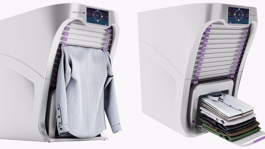 A capacidade da FoldiMate é de 20 peças. A máquina aceita até toalhas, meias e roupas íntimas. (crédito: divulgação).