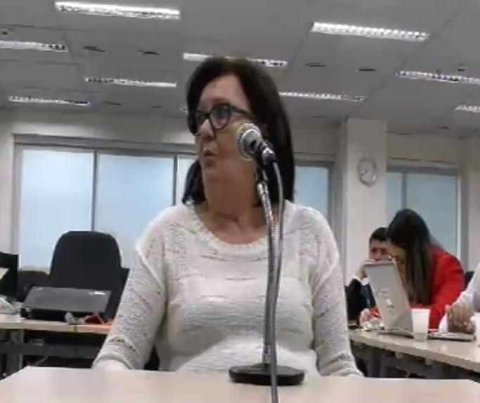 Maria do Rocio Nascimento começou a trabalhar no Mapa em 1978. Foto: Reprodução/Justiça Federal do Paraná