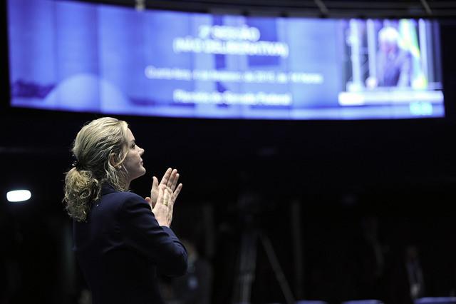 Senadora Gleisi Hoffmann (PT-PR). Foto: Marcos Oliveira/Arquivo Agência Senado