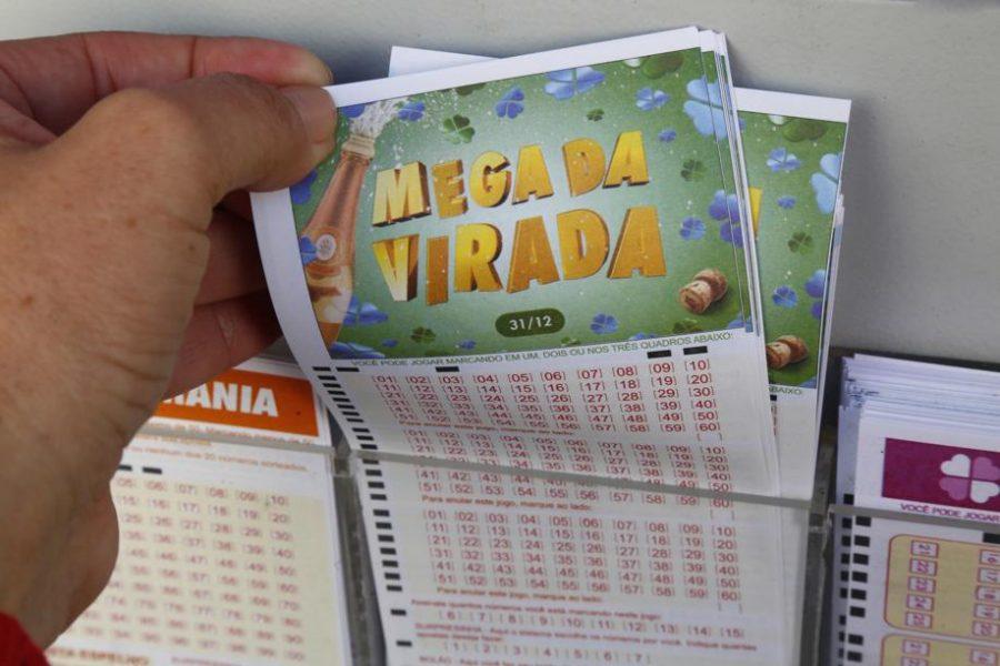 Volante da Mega-Sena da Virada, que pagou prêmio milionário no fim de 2017.