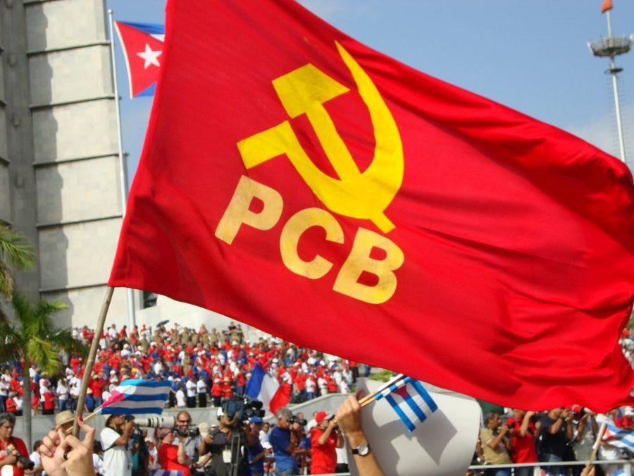 Bandeira do Partido Comunista Brasileiro, o PCB.