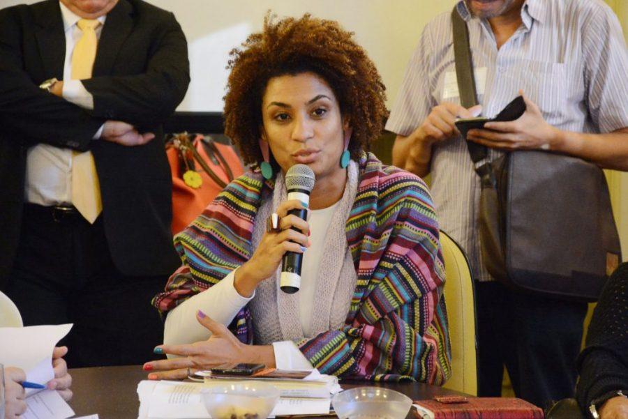 Marielle Franco, a vereadora assassinada no Rio de Janeiro.