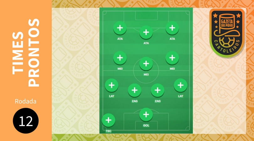 Cartola FC 2018 – 12ª rodada: sugestão de times para pontuar e valorizar