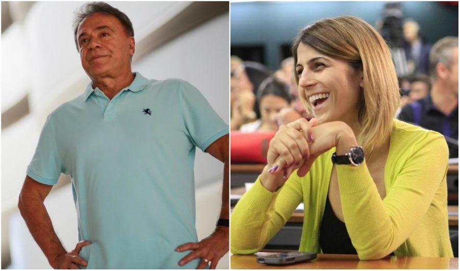 O senador Alvaro Dias e a deputada Manoela D´Ávila.