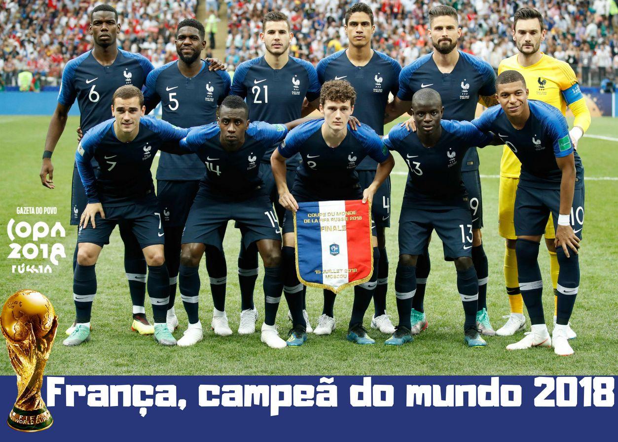Resultado de imagem para COPA DO MUNDO RÚSSIA 2018: FRANÇA campeã