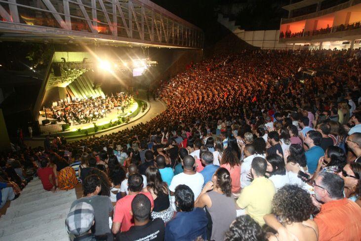 Concerto sinfônico na Concha acústica do Teatro Castro Alves de Salvador