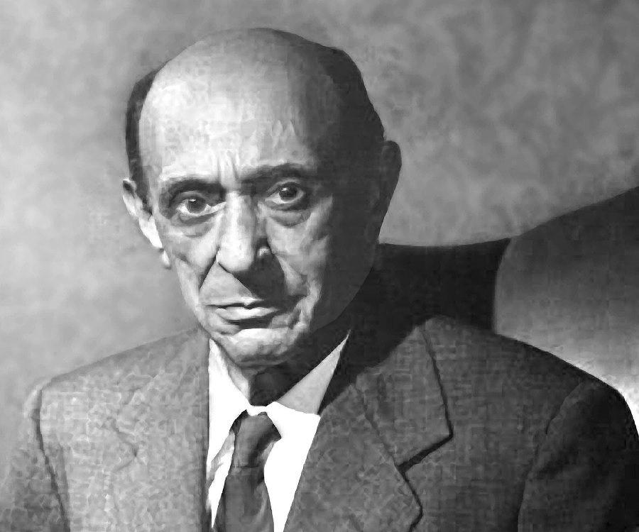 O compositor Arnold Schoenberg em foto de 1940