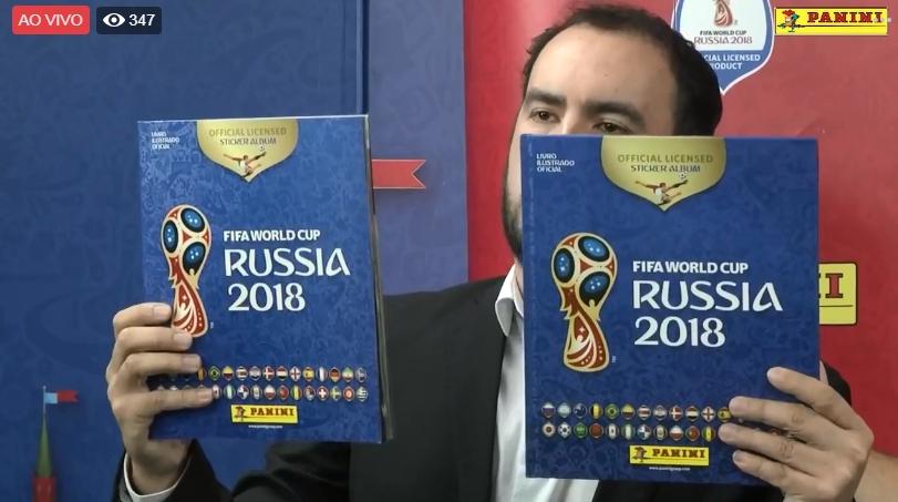 Álbum de figurinhas da Copa do Mundo da Rússia 2018 foi lançado oficialmente. Foto: Reprodução/Facebook