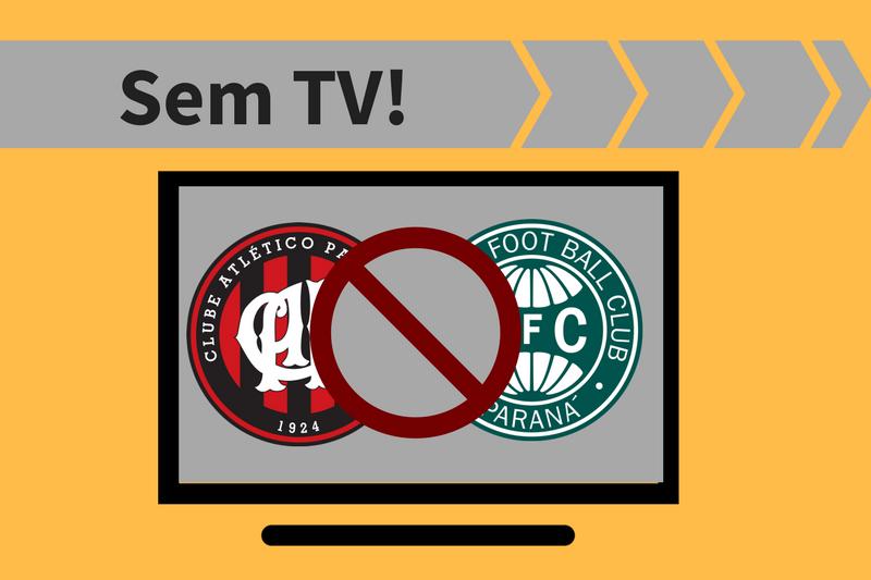 Atlético-PR x Coritiba: jogo sem transmissão de TV ao vivo